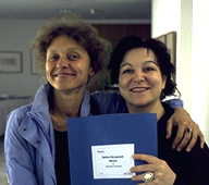 Bettina Skrzypczak und Mireille Capelle